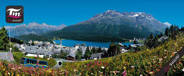 St. Moritz mit Bergbahn und Badrutts Palace Hotel