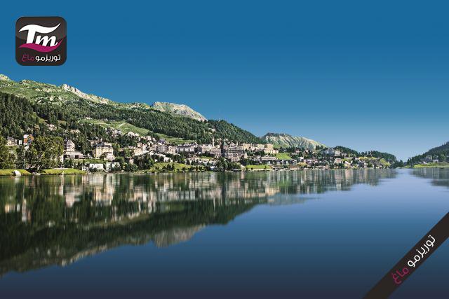 Engadin St. Moritz: Dorf St. Moritz, bearbeitetes Bild