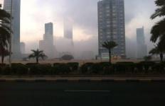 صورة جميلة للضباب في مدينة الكويت